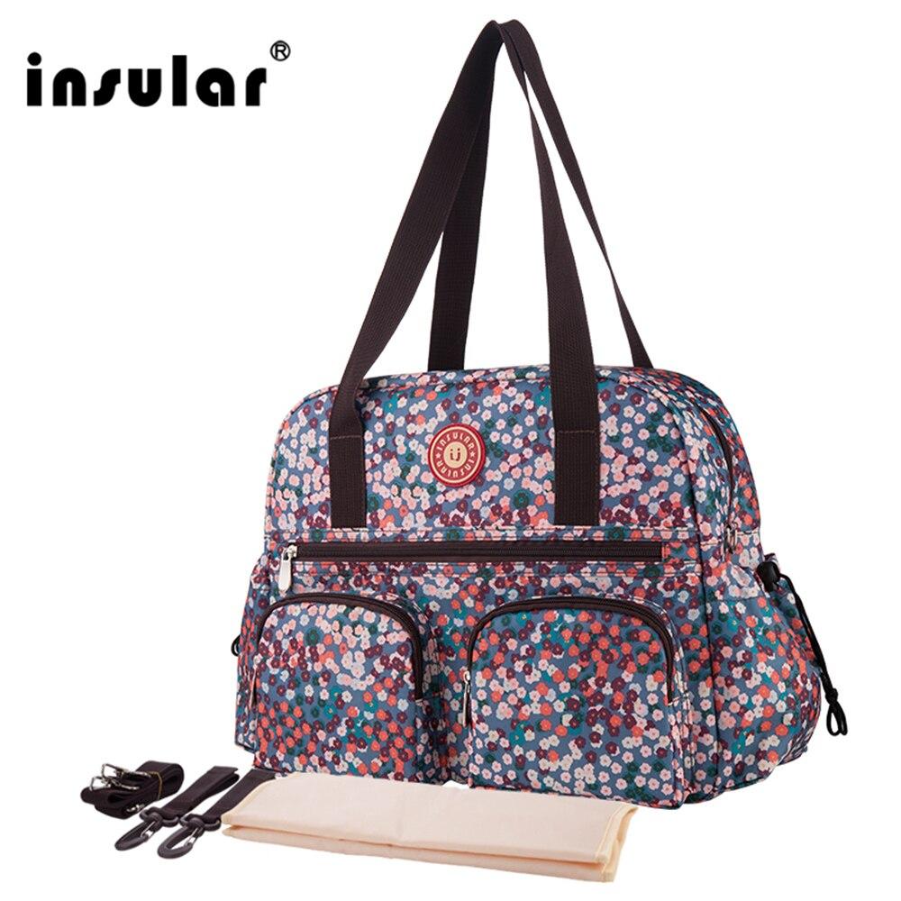 W nowym stylu Insular z nadrukiem modna torba na pieluchy dla - Pieluchy i Trenowanie toalety - Zdjęcie 4