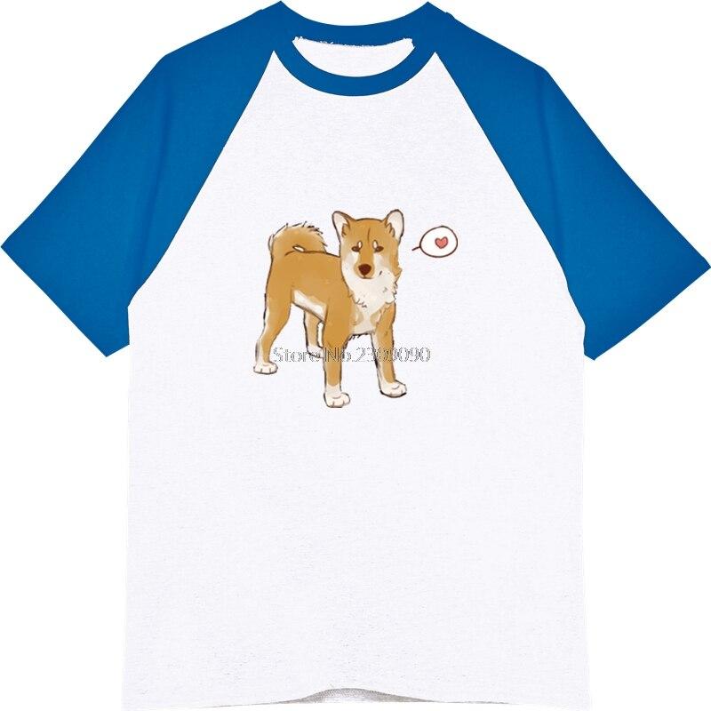 Cartoon Cool Doge T Shirts Men Printed Dog T-shirt Hip Hop Tee Tops Harajuku Streetwear Male Cotton Raglan Sleeve T Shirt