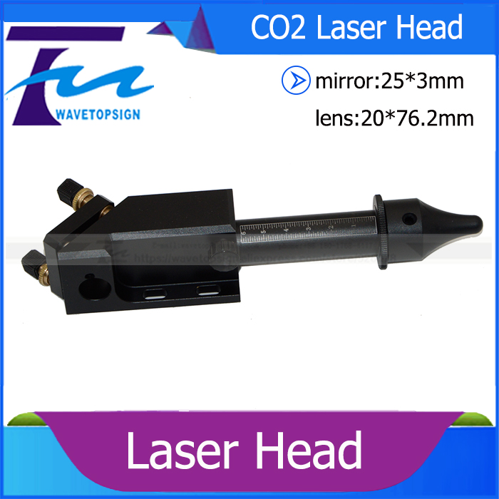 laser head diameter 20mm lens 76.2mm reflect mirror 25*3mm use for co2 laser engraving and cutting machine laser path system co2 laser machine laser path system include first reflect mirror holder second mirror holder and laser head