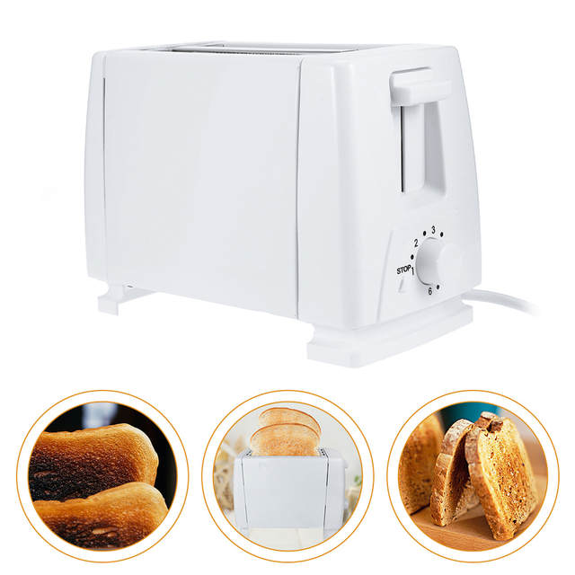 7d06484c682 placeholder Household 2 Slice Plastic Electric Bread Toaster Stainless  Steel Multi Function Breakfast Bread Toaster Oven 220V