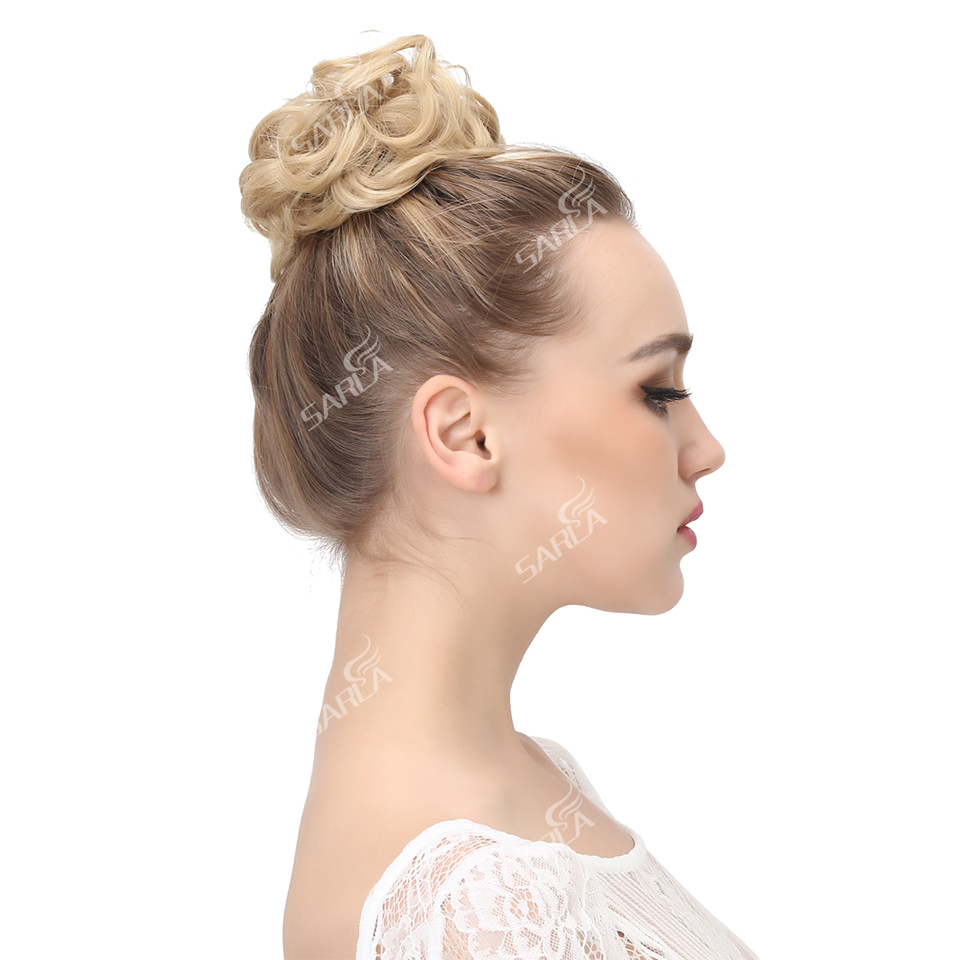 Image 5 - Сарла 100 шт грязные волосы кольцо для наращивания резинка для волос Chignons синтетические резинки для волос шиньон для создания прически H2hairpiece bunhairpiece hairhairpiece hair extension  АлиЭкспресс
