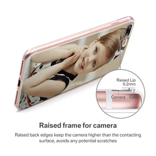 XIX BRICOLAGE Photo Personnalisé pour iPhone 5 5S 6 6S 7 8 Plus X Personnalisé Housse de protection en TPU pour Samsung S7 S8 S9 Huawei P9 P10 P20 Lite