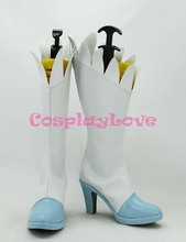 Newest Custom Made Japanese Anime Pretty Cure Precure Cure Echo Cosplay Shoes Long Boots For Christmas Halloween(China)