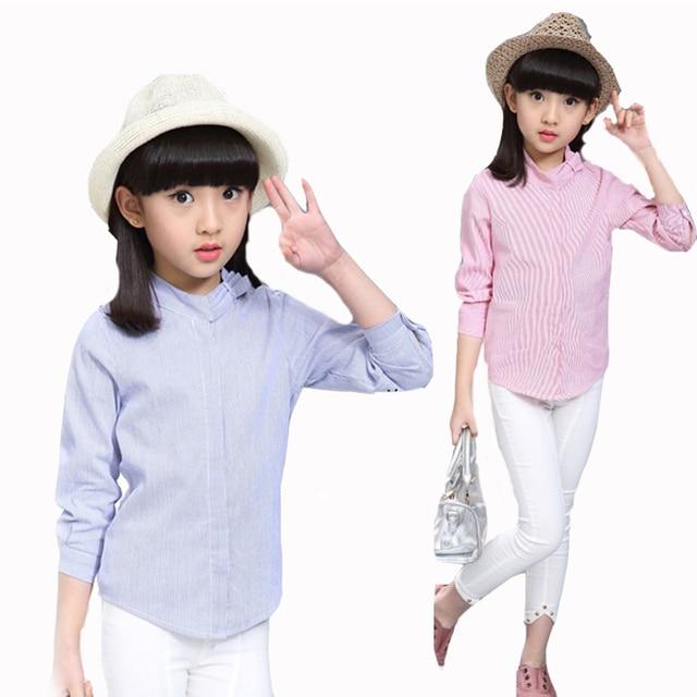 e8f11db34d Blusas Para Niñas Ropa de los niños Niñas de Algodón de Manga Larga Camisas  de Marca
