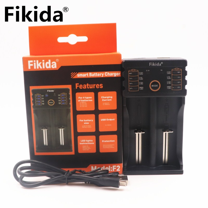 Neue fikida 18650 batterie ladegerät 1,2 v 3,7 v 3,2 v 3,85 v AA/AAA 26650 10440 14500 16340 25500 NiMH lithium-batterie smart ladegerät