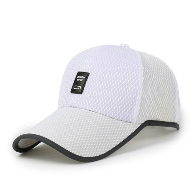 be21cd9b864 Fashion mesh breathable baseball cap hat golf male hats run leisure sun hat  summer shade visor