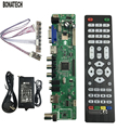 V56 Universal LCD TV Controller Driver Board PC/VGA/HDMI/USB +power adapter EU +keyboard