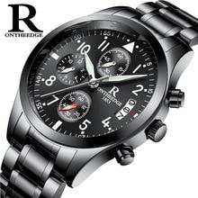 Top Brand Luxury Men Stainless Steel Waterproof Sports Watches Men's Quartz Analog military Watch Male Black Strap Wrist Watch