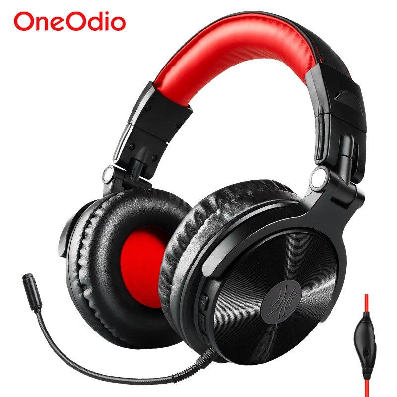 Oneodio sem fio bluetooth gaming headset fones de ouvido com microfone estendido cancelamento ruído bluetooth v4.1 handsfree