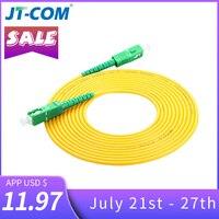 10 шт. SC/APC Волоконно-оптический кабель для коммутационных шнуров SM SC-SC 3,0 мм 3м Перемычка одномодовое Симплексное 3 мм оптический фибра оптика ...