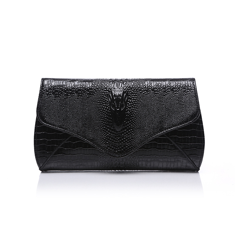 Fashion crocodile Cowhide leather Women clutch bag ladies genuine Leather handbag shoulder messenger bag ladies party