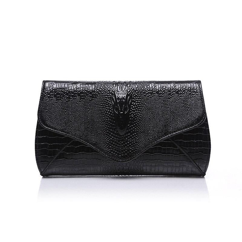 Moda krokodyl skóry wołowej kobiety portfel kobiet prawdziwej skóry clutch torba damska torebka z prawdziwej skóry torba na ramię panie party sprzęgłowa torba worek w Sprzęgła od Bagaże i torby na  Grupa 1