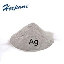 Gratis verzending hoge zuiverheid 50nm Zilver Ag poeder met bal vorm ultrafijne pure geleidende zilver poeder voor onderzoek