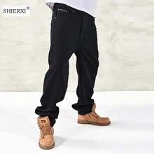 Autumn Winter Big Size Pants Man Plus Size 44 46 Hip Hop Baggy Pants Men's Male Leisure Trousers Fashion Design Menswear