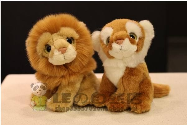 Free shipping New 18cm lion ,tiger  Stuffed Plush Toys Animal artificial Simulation Lion tiger toy Children's day gift stuffed animal 110cm plush tiger toy about 43 inch simulation tiger doll great gift free shipping w018