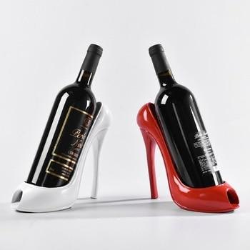 Creativo tacones altos estante de vino casa sala de estar Decoración de mesa ornamentos
