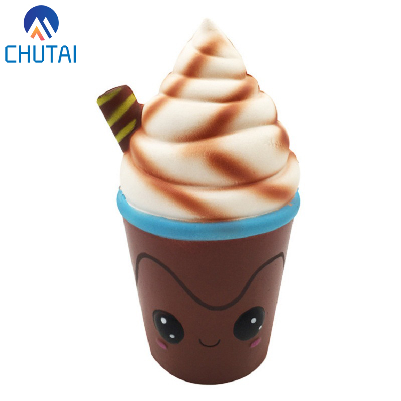 Jumbo Chocolate Ice Cream Squishy Cream Scented Slow Rising Stress Relief Toy For Kids Grownups Decompression Toy 15*7.5CM