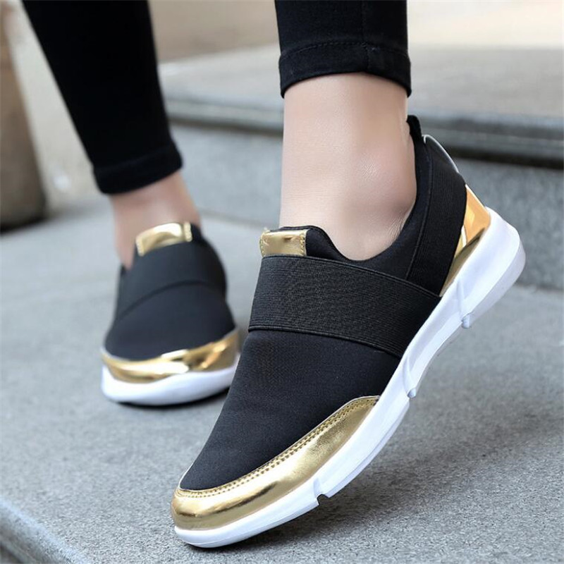 2018 New Women Flat Platform Shoes Woman Moccasin zapatos mujer Women's Platform Slip On For Ladies Shoes Casual Flats Moccasins instantarts women flats emoji face smile pattern summer air mesh beach flat shoes for youth girls mujer casual light sneakers