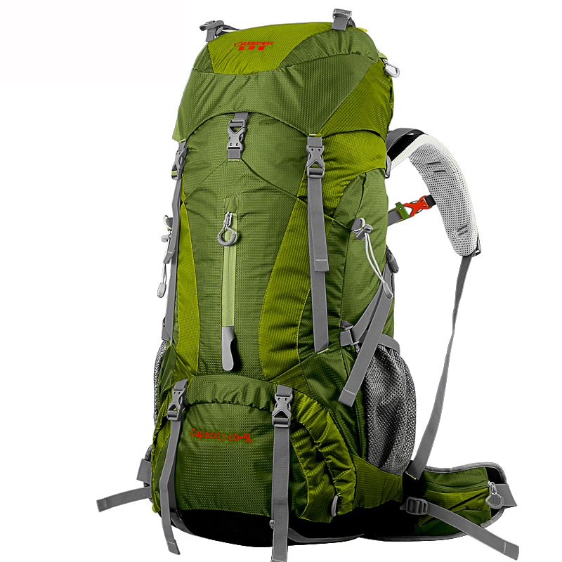 Outdoor bag Bright color Climbing Rucksack 65L large capacity External frame Mountaineering Waterproof backpack CR system запонки gourji 01h050202