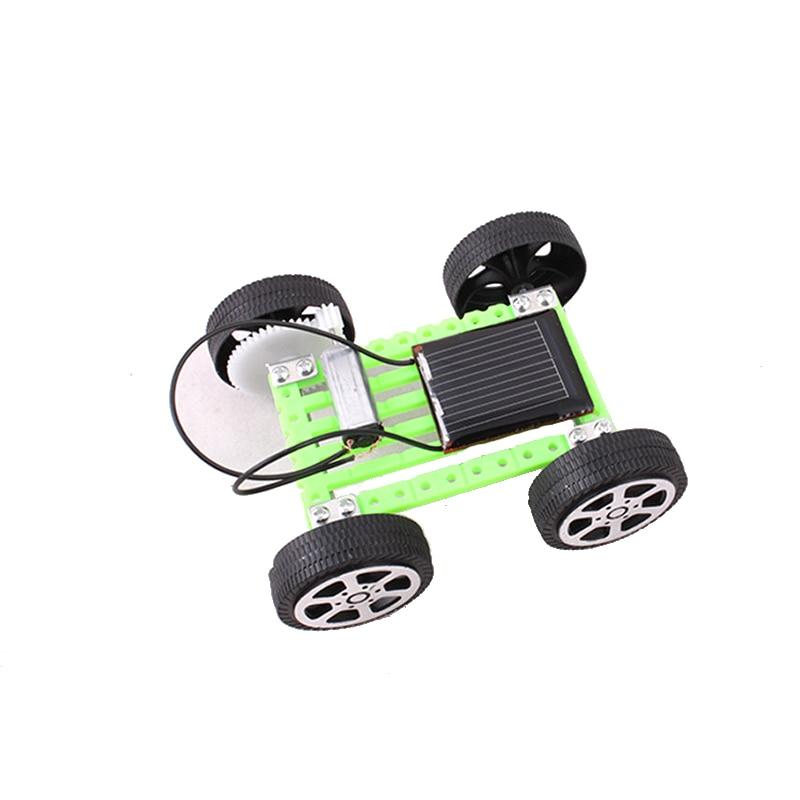 Kreatif DIY Surya Mainan Mini Surya Mobil kit Novelty sinar matahari mainan Pendidikan mainan mesin pembelajaran Hadiah mainan listrik Fisik