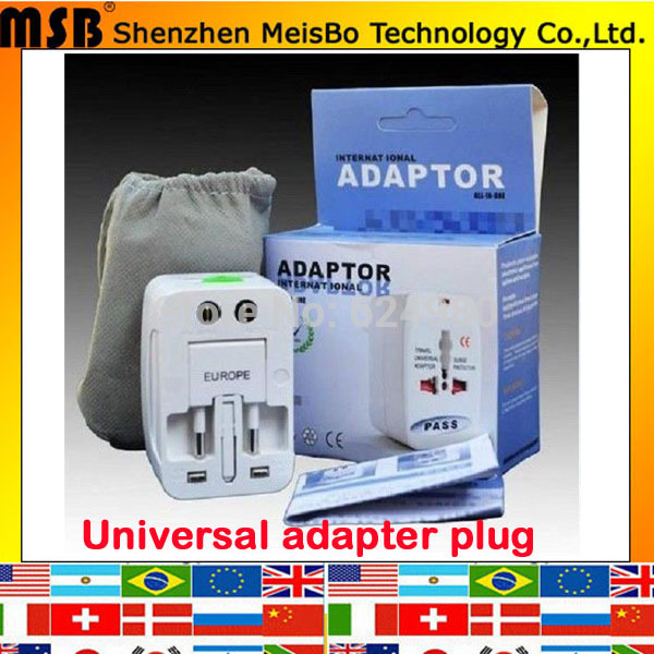 Free Shipping Universal Adapter Plug Socket Converter All in One Travel Electrical Power Adapter US UK AU EU Plug
