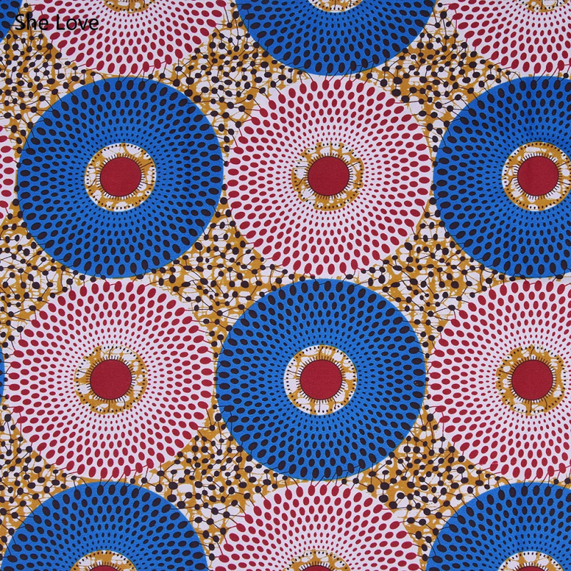 She Love 1 Yard Ankara African Polyester Wax Prints Fabric  DIY Material For Garments Craft Making Accessories 10