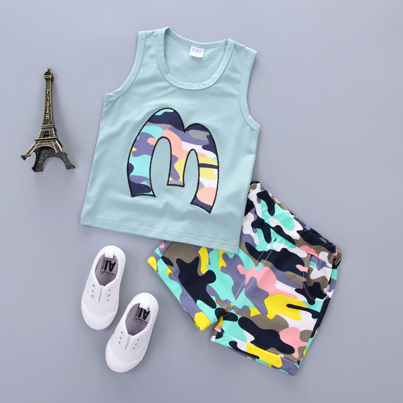 New Children Clothing Sets Baby Outfits 2017 Summer Toddler Boys Clothing Vests+Pants Suit Boys Clothes Set Kids Tracksuit new summer baby boys christmas outfits clothing sets children tie vest t shirt suit fancy kids gelentment clothes set