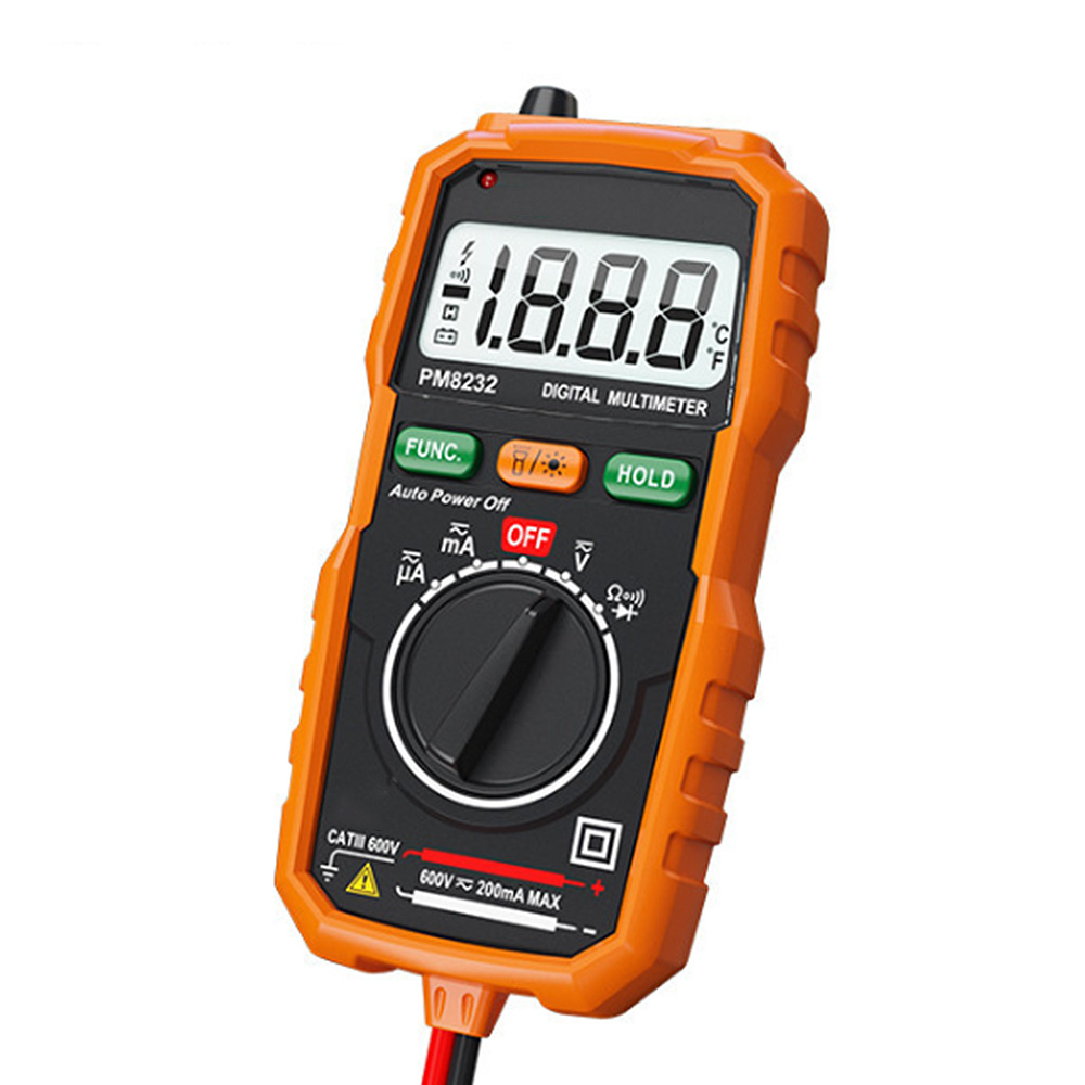Digital volt/ímetro Ampmeter Medidor de mult/ímetro AC DC Ohm Tester Checker de Inc Leads