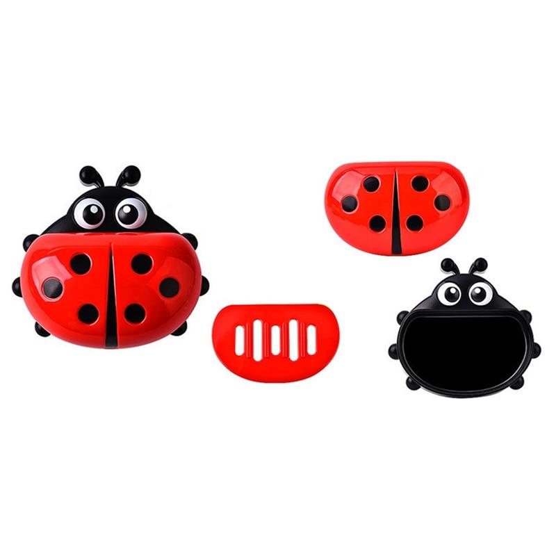 FHEAL Cute Ladybug Soap Box Badeværelse Aftap sæbeholder Køkken - Hjem opbevaring og organisation - Foto 6