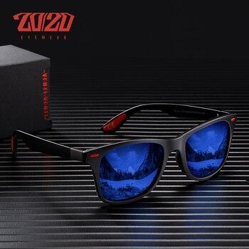 20/20 브랜드 클래식 편광 선글라스 남자 여자 운전 남자 스퀘어 프레임 태양 안경 남성 고글 UV400 Gafas PL344