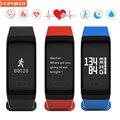 Banda Inteligente 0.66 Pantalla OLED Oxímetro de Pulso Digital de la Presión arterial Monitor de ritmo cardíaco Monitor de Sueño Pulsera para iOS Android