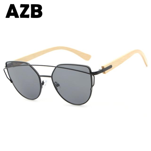 02330c865d8c 2017AZB модные брендовые Солнцезащитные очки женские очки Женские Ретро  Золотые очки зеркало солнцезащитные очки мужские солнцезащитные
