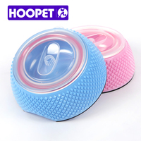 Pet Products Double Deck Covered Colorful Dog Cat Water Food Feeding Bowl Sturdy And Durable Bowl