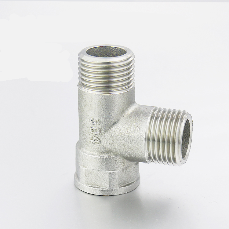 Stainless Steel Tee Junction Joint Pipe Fitting Connector Plumbing Pipe Fittings