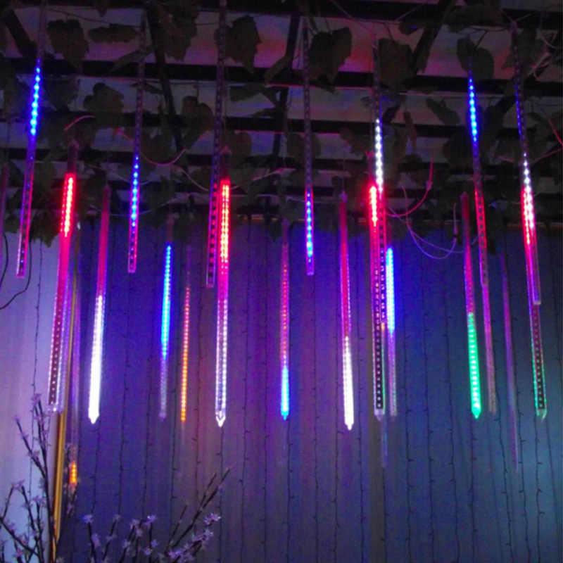 30 см 50 см 110 В 220 В метеоритный дождь трубы светодиодный Рождественский свет Свадебная вечеринка сад Рождественская струнная лампа Наружное праздничное освещение