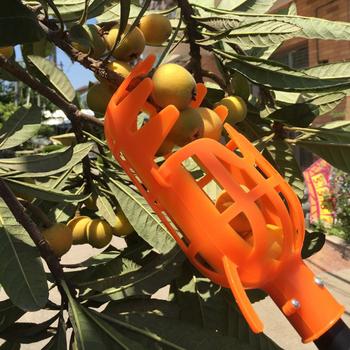 Nie szkodzi zbierak do owoców na dużej wysokości zbierak do owoców narzędzie do zbierania ogrodu drzewo owocowe plastikowe owoce zbierak do owoców ogrodnictwo tanie i dobre opinie K706412 Fruit picker orange white plastic Various fruits bayberry loquat etc