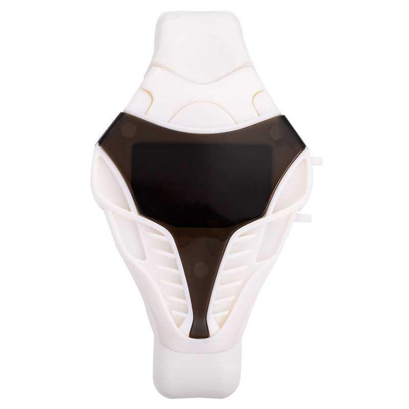 2019 marka erkek saatler serin teknoloji tarzı dijital LED çalışan zamanlayıcı izle erkekler moda kol saatleri Montre Homme Relojes