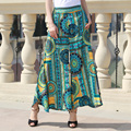 2017 nuevas mujeres del verano pantalones casuales pantalones de pierna Ancha mujeres losse impresión de La Vendimia