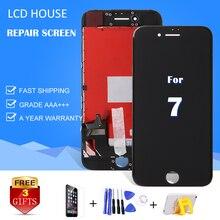 Купить 1 шт. PANTALLA для iphone 5S/5C/6/6 s/6sp/7 ЖК-дисплей Дисплей с сенсорный экран планшета Ассамблеи Замена AAA + 5/6/7 Plus Стекло
