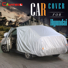 Cawanerl Полное Покрытие Автомобиля Зонтик Анти-УФ Вс Дождь Снег устойчивостью Крышки Для Hyundai i35 H1 Scoupe Trajet Veloster SantaFe бытие