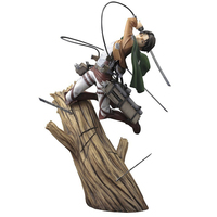 Attack on Titan Levi Eren cartoon doll PVC 25cm box packed japanese figurine Action figure for Kid Anime Collection