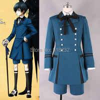 Black Butler 2 Kuroshitsuji Ciel Phantomhive Uniform Outfit Halloween Party Cosplay Costumes