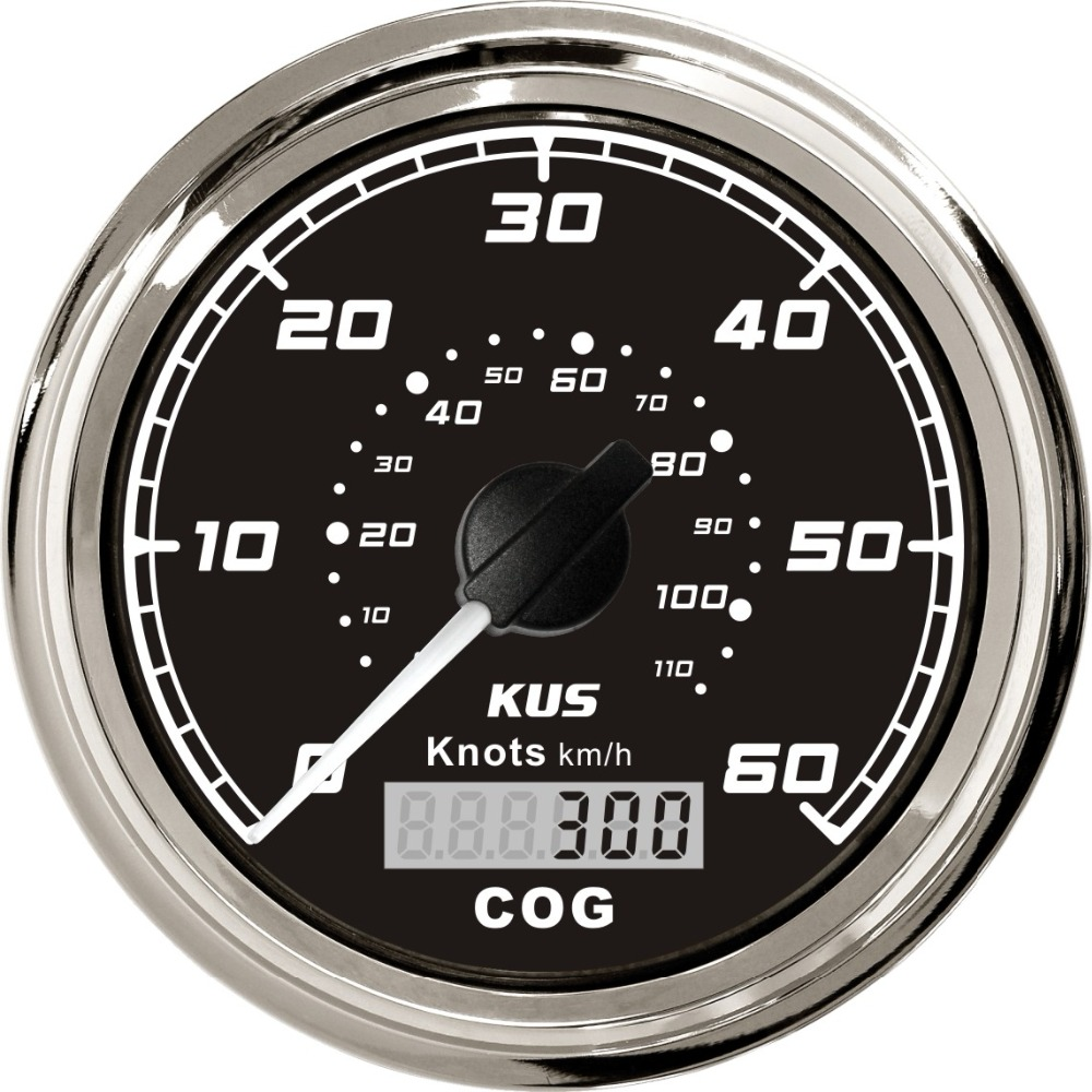KUS 85mm Waterproof GPS Speedometer 0 60 KNOTS 0 110KM H For Marine Boat Vessels RED