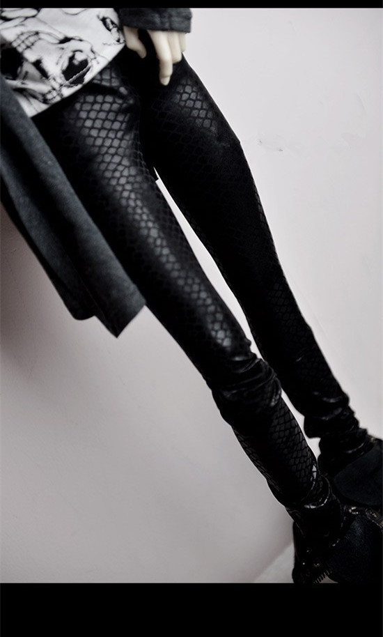 Cool Thin Tight Python Bobi Leather Pants For BJD 1/6 YOSD,1/4 MSD,1/3 SD10/13,SD17,Uncle,SSDF Doll Clothes Customized CMB31 cool double zipper black leather pants for bjd doll 1 4 1 3 sd16 girl sd17 uncle spirit bjd sd msd doll clothes cmb68