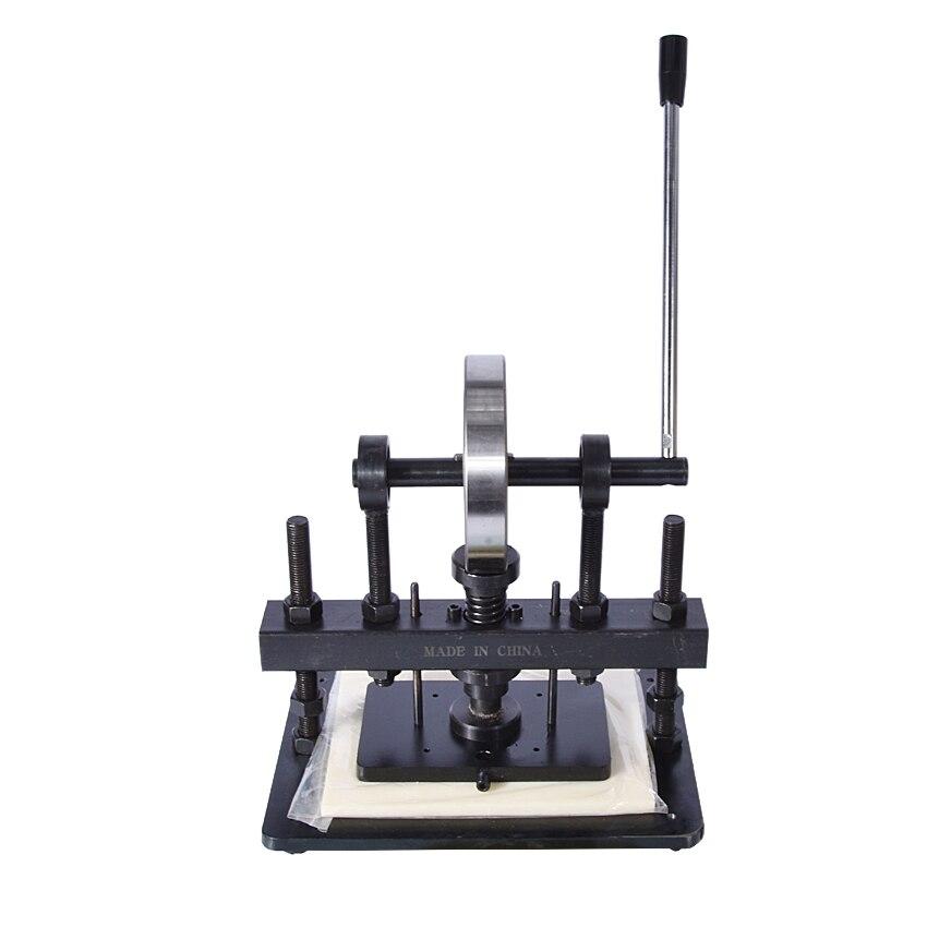 Máquina cortadora de cuero de la mano, papel fotográfico, molde cortador de hoja PVC/EVA, molde para cuero manual/troqueladora máquina de cortar manual - 2