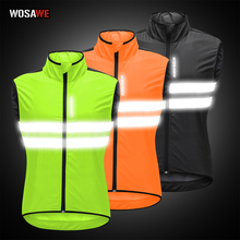 WOSAWE Motorcycle Vest High Visibility Reflective Safety Jacket Night Running Riding Motorcoss Waistcoat Windbreaker цена 2017