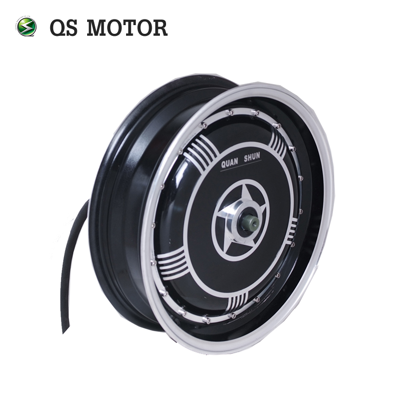 <font><b>QS</b></font> <font><b>Motor</b></font> 13inch <font><b>4000W</b></font> 273 40H V2 Brushless BLDC EElectric Single Shaft Wheel Hub <font><b>Motor</b></font> image