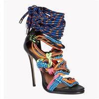 Желтые свадебные туфли на высоком каблуке 12 см; сандалии гладиаторы из натуральной кожи со стразами и стразами; Роскошные туфли
