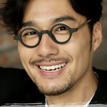 Optical Glasses Frames Men Women Brand Vintage Round Japanese Johnny Depp computer Hand Made Acetate Top Quality Q301