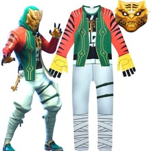 ZSQH season 8 Master Key Jumpsuit Game Battle Royale Cosplay Costume for kids Bodysuit